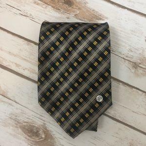 Versace Classics V2 Men's Tie Grey, Blue & Yellow